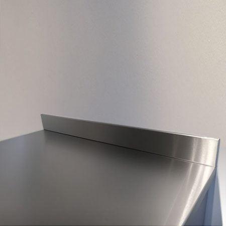 2400mm length x 100mm high x 10mm depth Stainless Steel Upstands