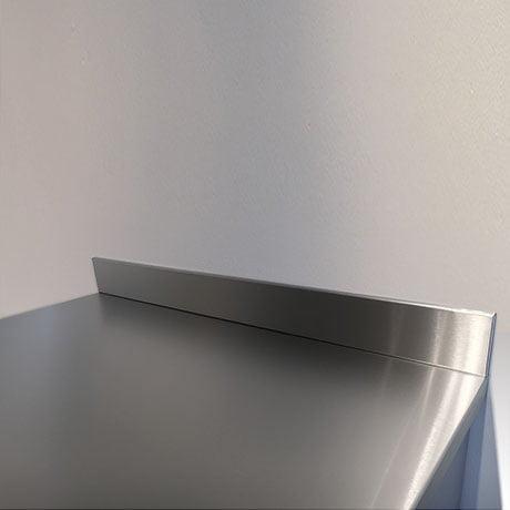 2000mm length x 100mm high x 10mm depth Stainless Steel Upstands