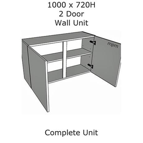 Hybrid 1000mm wide x 720mm high 2 Door Wall Units