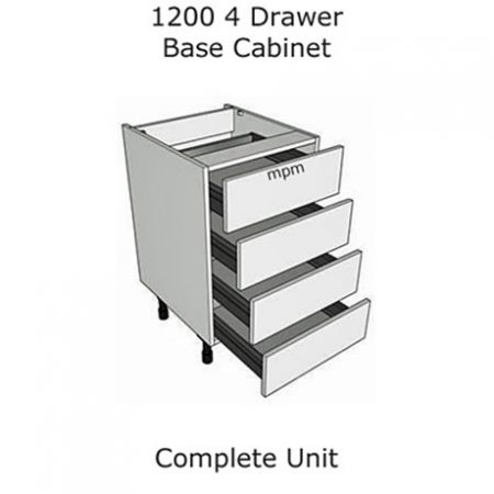 1200mm wide 4 Drawer Base Units
