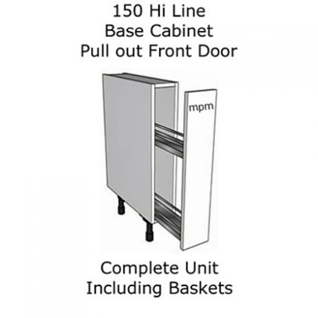 150mm wide Hi Line Base Units – Pull Out Front Door