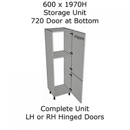600mm wide x 1970mm high 720 Bottom Door Storage Units