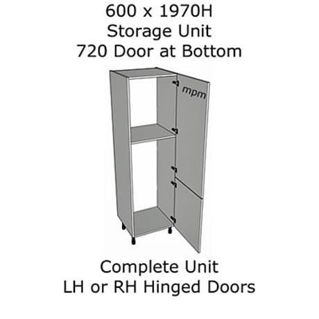 Hybrid 600mm wide x 1970mm high 720 Bottom Door Storage Units