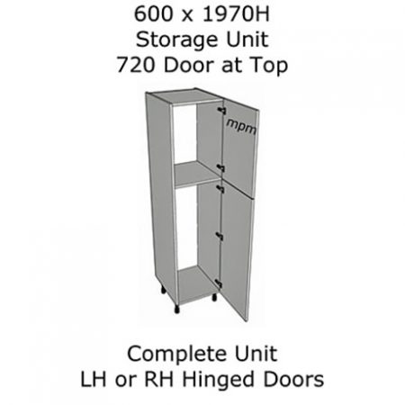 600mm wide x 1970mm high 720 Top Door Storage Units