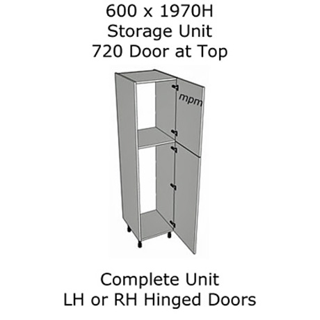 Hybrid 600mm wide x 1970mm high 720 Top Door Storage Units
