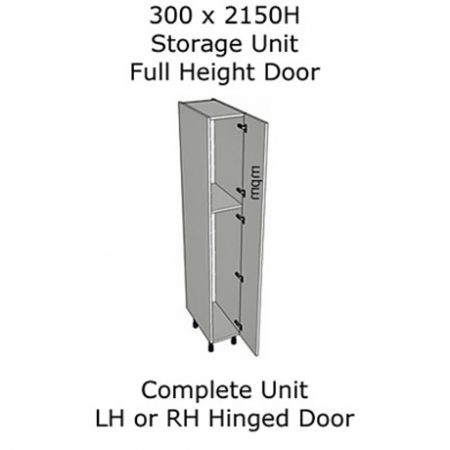 300mm wide x 2150mm high Single Door Storage Units
