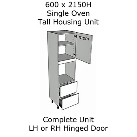Hybrid 600mm wide x 2150mm high Single Oven Tall Housing Units