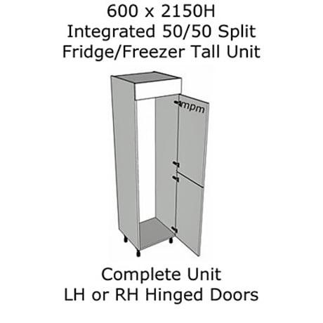 Hybrid 600mm wide x 2150mm high 50-50 Split Tall Housing Units