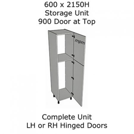 Hybrid 600mm wide x 2150mm high 900 Top Door Storage Units