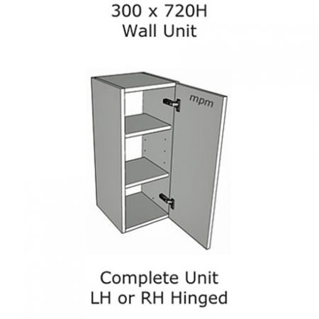 Hybrid 300mm wide x 720mm high Wall Units