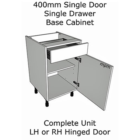 Hybrid 400mm wide Single Door, Single Drawer Base Units
