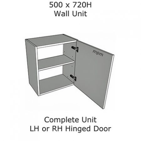 Hybrid 500mm wide x 720mm high Wall Units