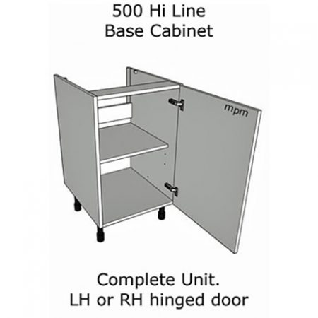 500mm wide Hi Line Base Units