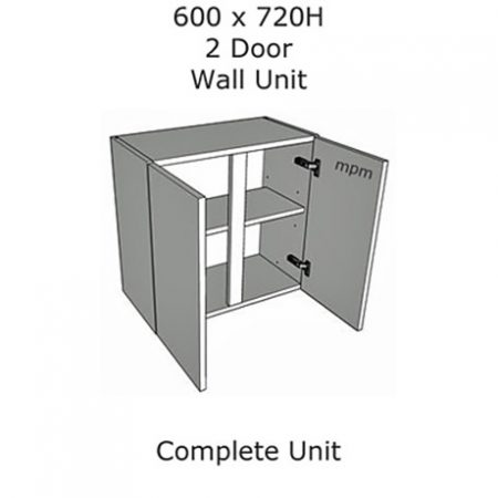 Hybrid 600mm wide x 720mm high 2 Door Wall Units