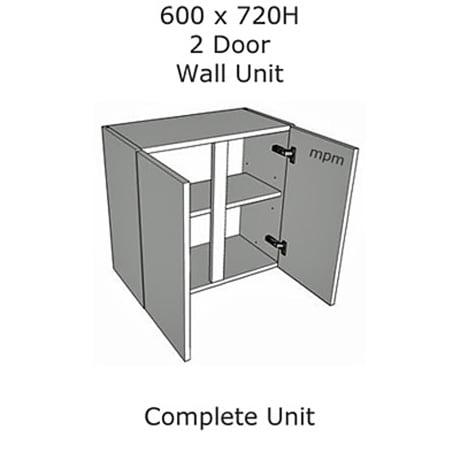 Hybrid 600mm wide x 720mm high 2 Door Wall Units