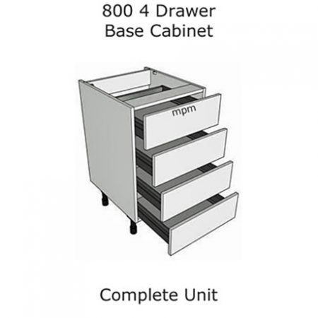 Hybrid 800mm wide 4 Drawer Base Units