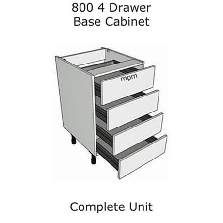 Hybrid 800mm wide 4 Drawer Base Units