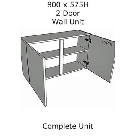 Hybrid 800mm wide x 575mm high 2 Door Wall Units