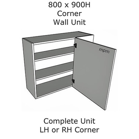 800mm wide x 900mm high Corner Wall Units