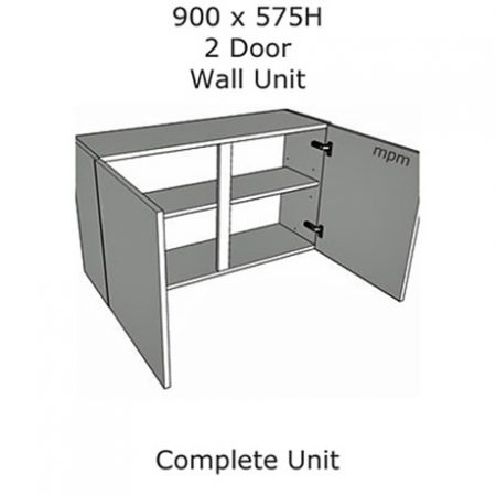 Hybrid 900mm wide x 575mm high 2 Door Wall Units