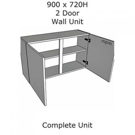 Hybrid 900mm wide x 720mm high 2 Door Wall Units