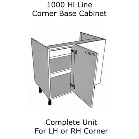 1000mm Hi Line Corner Base Units