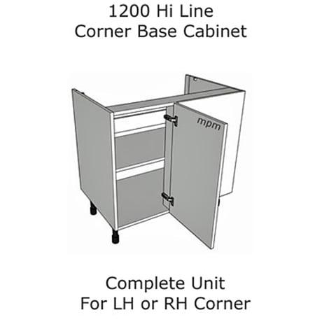 1200mm Hi Line Corner Base Units
