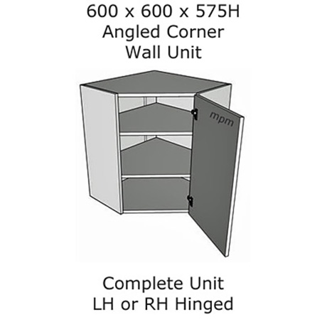 600mm x 600mm wide x 575mm high Angled Corner Wall Units
