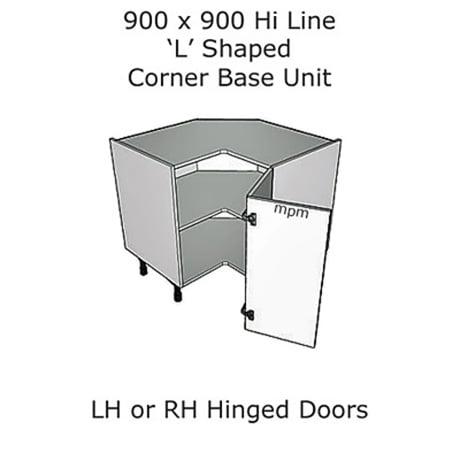 900mm X Hi Line L Shaped Corner, What Size Are Kitchen Corner Base Units