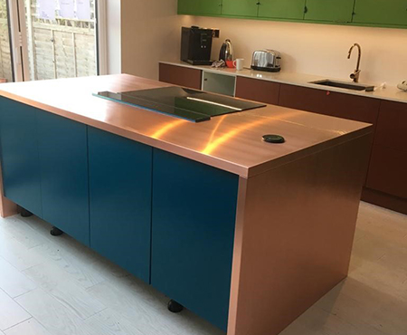 Made to measure copper worktops