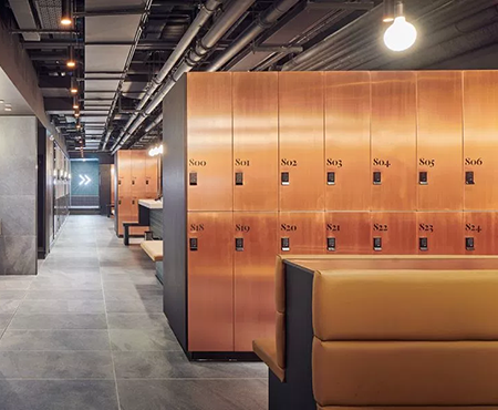 Copper Changing Room Lockers