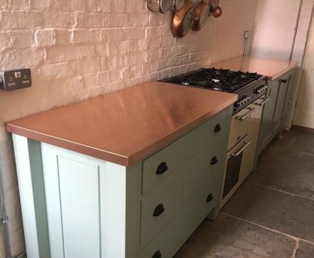 Copper Kitchen Fitted Worktops Islands