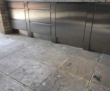 Luxury Stainless steel bespoke BBQ kitchen