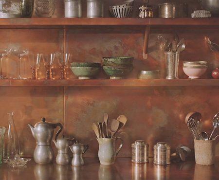 Bespoke Copper Kitchen Fitted Splash Backs