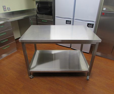 Stainless steel kitchen Table on wheels