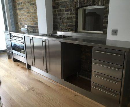 Luxury Bespoke Complete Stainless Steel Kitchen