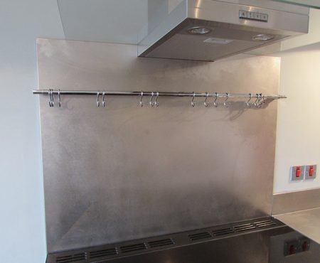 Commercial Kitchen Stainless steel Splash back