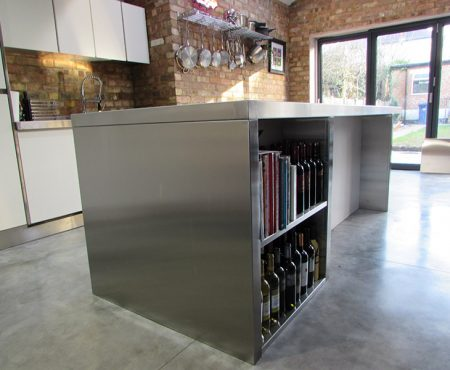 Bespoke Stainless Steel Kitchen Units