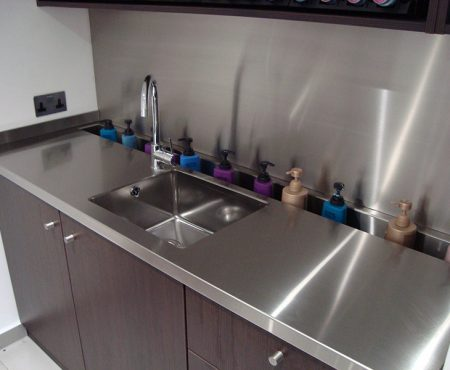 Stainless steel bespoke kitchen