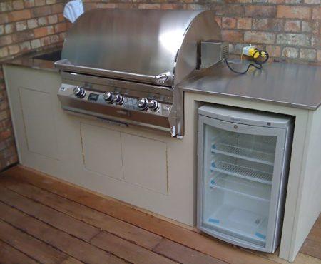 Stainless steel bespoke garden kitchen