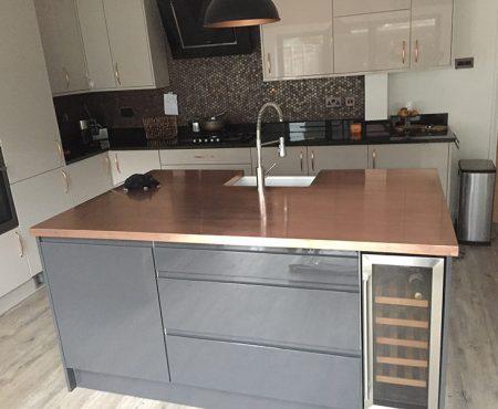 Copper Kitchen Fitted Worktops