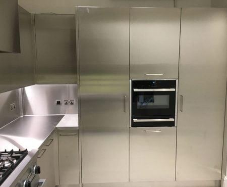 stainless steel kitchen unit doors