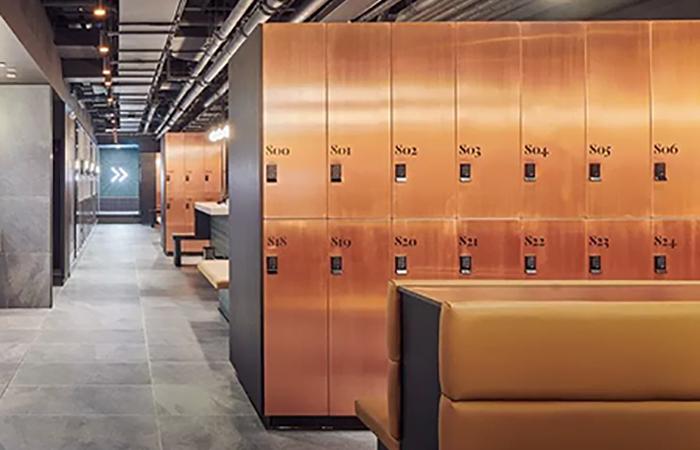 bespoke Copper Changing Room Lockers