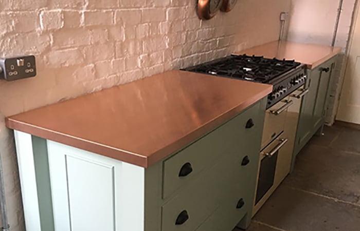 Standard Size Copper Worktops