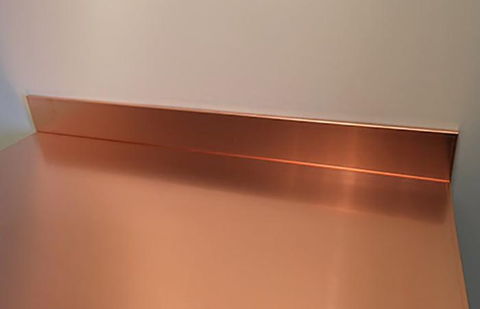 Copper Kitchen Fitted Worktops Upstands