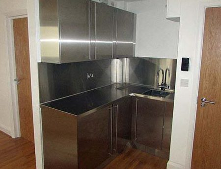 Small Stainless Steel Kitchen