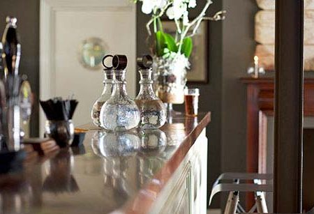 Bespoke copper bar kitchen worktops