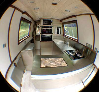 Stainless Steel Kitchen for canal boats