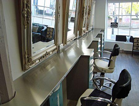 Hairdresser Shop Fitted Stainless Steel Kitchen