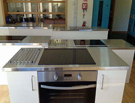 School Fitted Stainless Steel Kitchen